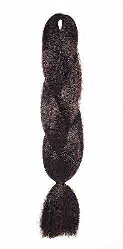 American Dream Normaler Flechtzopfe für Haarverlängerungen, Dreadlocks und kreatives Styling - Farbe 1B/35 - natürliches schwarz / tiefes kupfer