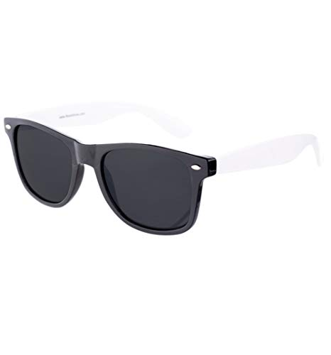 RetailZone Way Farer Sunglasses With Black Frame and White Arms