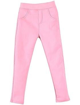 Niña Leggings Cintura Elástica Pantalones De Lápiz Plus Espesamiento Jeggings Leggins Pink 110CM