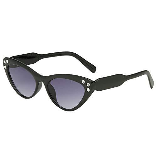 REALIKE--Sonnenbrillen für Damen Funkelnd Diamant Verspiegelt Katzenauge Brille Sonnenbrille...