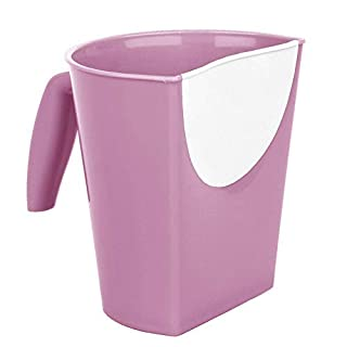 AJS LTD SAVEA Shampoo Rinse Cup Baby Care Product Water Spoon ,Waterfall Baby Bath Cup Wash Hair Rinsing Cup (Pink)