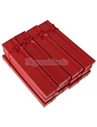 Alcoa Prime 12Pcs Jewelry Necklace Pendant Jewelry Paper Present Gift Box Case - Red