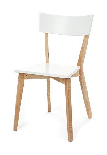 Wink design - pièce de 2 chaises blanc/naturel