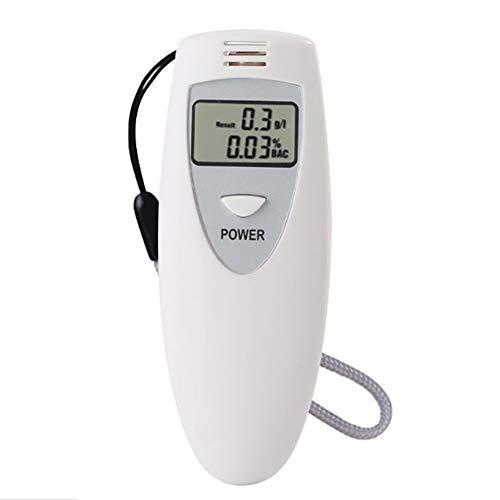 NACHEN Digital Breathalyzer Professionelle tragbare Atemalkohol-Detektor Tester LCD-Anzeige,White,100x45x20mm