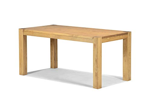 Naturholzmöbel Seidel Esstisch Rio Bonito 160x80 cm, Pinie Massivholz, geölt und gewachst, Holz Tisch für Esszimmer, Wohnzimmer Küche, Farbton Honig hell, Optional: passende Bänke und Ansteckplatten (Massivholz Tisch Esszimmer)