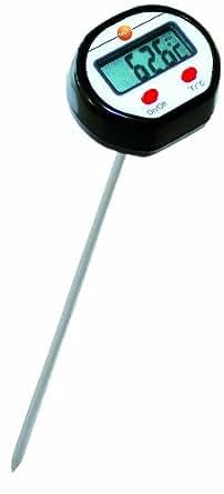 Testo 0560 1111 Mini-thermomètre d'immersion/pénétration jusqu'à 250°C avec affichage clair, tube protecteur et piles Longueur 213mm
