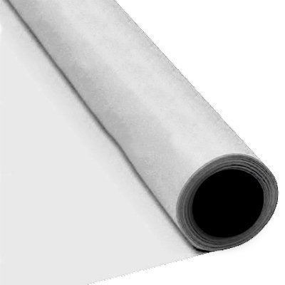 White Damask 2 ply Paper Banqueting Roll 25 metre x 120cm