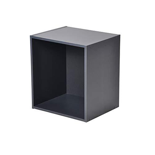 HOMEA Cube de Rangement 1 Niche Panneaux de Particules, Gris, 34,4x29,5x34,4 cm