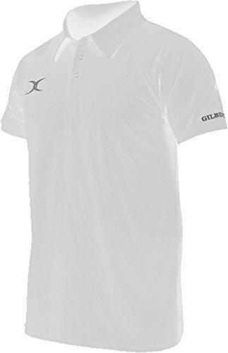 Gilbert Dampf Polohemden Herren Rugby Sport Freizeit Herren Tragen Schlitz Kleidung Weiß