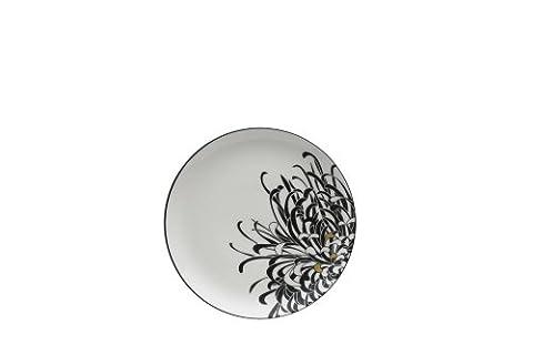 Denby Monsoon Chrysanthemum Salad Plate, Cream, 22 cm