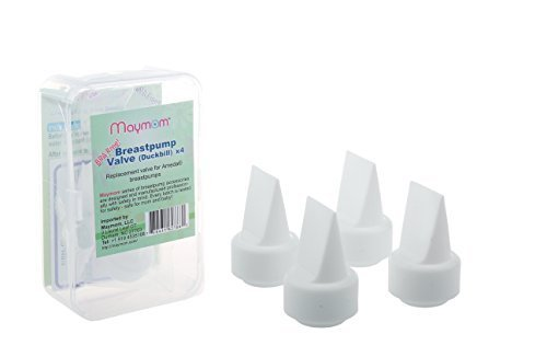 Maymom Pump Valves for Ameda Purely Yours Breast Pumps; Duckbills to Replace Ameda Breast Pump Valves; 4 Pieces in Retail Package (Factory Sealed). by Maymom