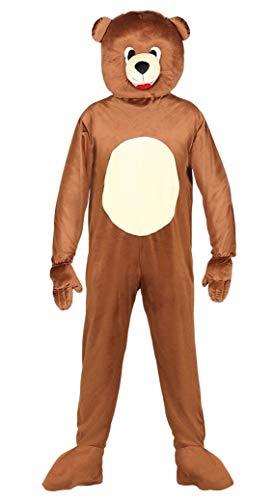 Guirca costume orso uomo adulto, colore marrone, l, 88182