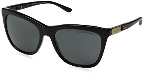 Ralph lauren 0rl8151q0187, occhiali da sole donna, nero (black/gray), 55