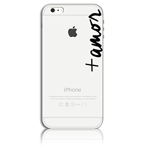 Cover per iPhone 8 Silicone (4.7), Custodia iPhone 7,Ultra Slim Thin Morbido TPU Clear Trasparente Letter Case Modello 04