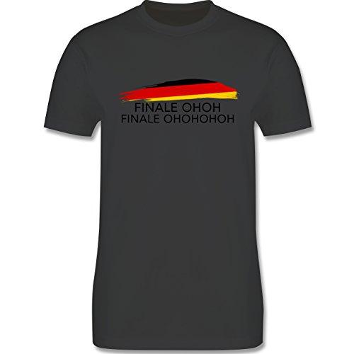 EM 2016 - Frankreich - Deutschland Finale OHOH - Herren Premium T-Shirt Dunkelgrau