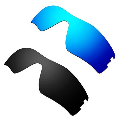HKUCO Ersatz-Brillengläser für Oakley Radar Pitch Sonnenbrille Blau/Schwarz Polarisiert