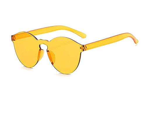 OULN1Y Sport Sonnenbrillen,Vintage Sonnenbrillen,One Piece Sunglasses Women Transparent Plastic Glasses Men Style Sun Glasses Clear Candy Color