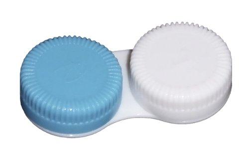 Farbige Kontaktlinsenbehälter mit Schraubverschluss zur Aufbewahrung von weichen Kontaktlinsen (10 Stück, Blau)