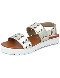 GET GLAMR Women's Golden Sandals