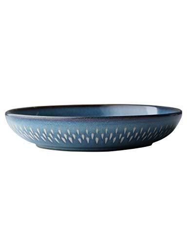 Bol Bol en céramique créatif de 10 pouces pour la maison grand bol à soupe (taille: diamètre 23cm, hauteur 4.5cm capacité 950ml)