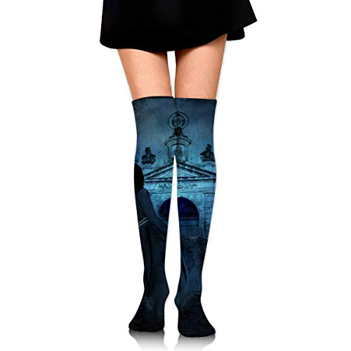 ight Cemetery Scary Dark Duke Ankle Stockings Over The Knee Sexy Womens Sports Athletic Soccer Socks ()