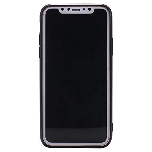 Apple X Hülle, Voguecase Silikon Schutzhülle / Case / Cover / Hülle / TPU Gel Skin für Apple iPhone X(Rot Fuchs 05) + Gratis Universal Eingabestift Halbmond