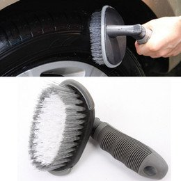 NIKAVI Car Wheel Tire Rim Scrub Brush Hub Clean Wash Useful Brush Car Truck Motorcycle Bike Washing Cleaning Tool