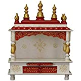MVEE Wooden Home Temple/Pooja Mandir/Mandapam/Small Home Temple (MA_ST 02)