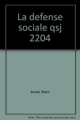 La Défense sociale par Marc Ancel