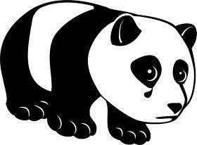 Mister Merchandise Tote Bag Sad Panda Borsa Bagaglio , Colore: Nero Nero