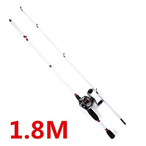 Cgmznc anna da pesca 1.5m / 1.65m / 1.8m canna da pesca con esca da pesca con canna da pesca infibra di carbonio da pesca a canna da pesca in fibra di carbonio da 3 a8g