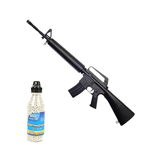 Well Airsoft Pack Sturmgewehr M16A1 Spring Bottle 2000 Bälle (0,4 Joule)