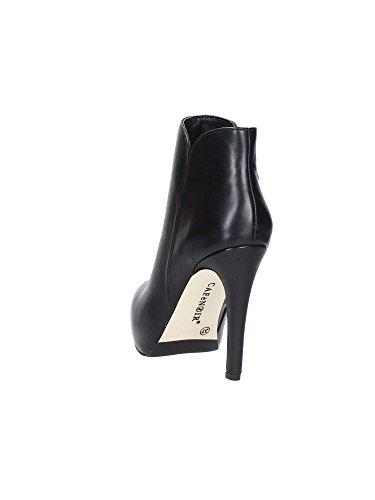 CAF NOIR MF902 schwarze Schuhe Frau Knöchel Stiefel seitlichem Reißverschluss Ferse I16.010 NERO