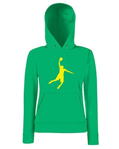 T-Shirtshock - Sweatshirt a capuche Femme OLDENG00826 basketball white (3) Vert
