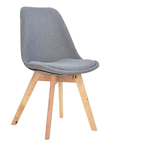 Massivholz Stuhl Holz Lazy Casual Restaurant Modern Minimalist Lazy Schlafzimmer Rückenlehne Sitz (Color : Gray) -