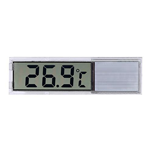 1Pc Digital elektronische Aquarium Thermometer Silber LED Induktive Thermographie Precise Fish Tank Thermometer