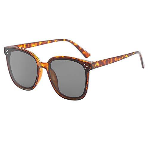 fazry Damen Retro Leicht Übergroß Mode Sonnenbrille -Gespiegelt Polarisiert Linse(Braun)