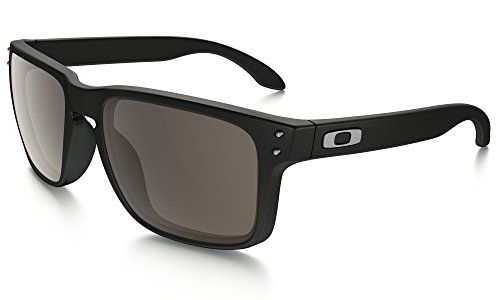 Oakley Holbrook Wayfarer Matt Schwarz Sonnenbrille-Warm grau Objektiv Allroundhose * * RRP £107* *