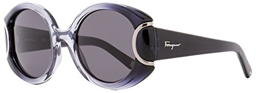 Salvatore ferragamo - signature collection sf811s, geometrico, acetato, donna, black/grey(013 ), 54/21/140