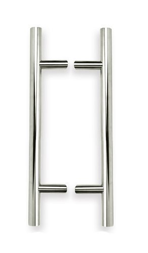 INOX KT-PHIX33310-32D-BTB Back-To-Back T-Shape Pull with 1-1/4-Inch Diameter and 10-Inch CTC, Satin Nickel by INOX