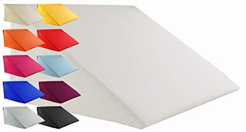 beties Big Comfy Basic Keilkissen Bezug ca. 62x49x30 cm 100% Natur Baumwolle in Vielen fröhlichen Unifarben
