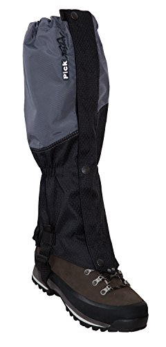 Tashev 'Guêtres Pick Randonnée geiter Noir/Gris Höhe: 48 cm Sohlenriemen: 45 cm (individuell verstellbar)
