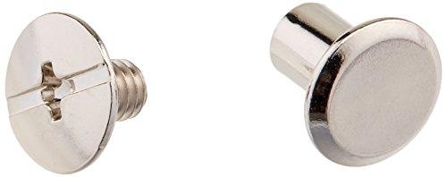 uxcell a16053100ux0251Leder M5x 8mm Metall Nagel Nieten Chicago Schrauben Binding Post 100, silber -