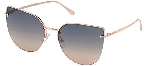Tom Ford Sonnenbrillen INGRID-02 FT 0652 Rose Gold/Grey BEIGE Shaded Damenbrillen