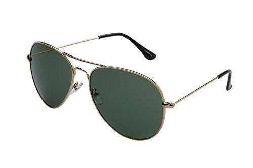 Ravs Sonnenbrille Pilotenbrille XXL Gläser inklusive Softbag Top Gun Style