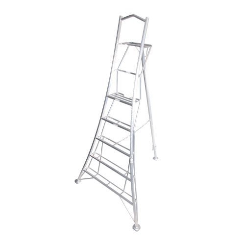 With three fully adjustable legs, 7-inch deep rung platform for safety, wide clawed feet, and standing at 3.6m max, this could well be the ultimate best tripod ladder, but it's quite expensive.