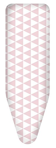 Rosa Dreieck (Colombo - Bügelbezug in Gr. M, L, XL mit verschiedenen Motiven aus 100% Baumwolle, passend für alle handelsüblichen Bügeltische, auch passend für Leifheit Bügeltische (XL / 140x55cm, Dreieck Rosa))
