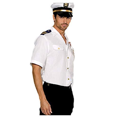 2 Kostüm Teiliges Matrosen - Top Totty 2 Stück sexy Herren Matrosen-Marineblau Captain Outfits Faschingskostüm