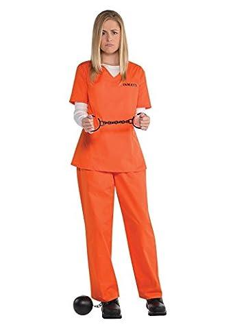 Femme Costumes De Prisonniers - Costume Adulte Femme - Détenue Piper -