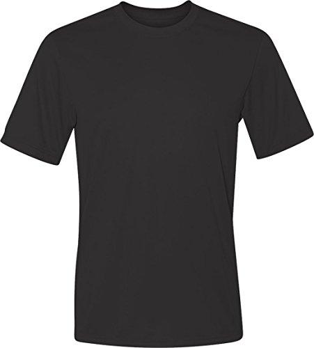 Hanes Cool Dri Tagless Mens T-Shirt Black